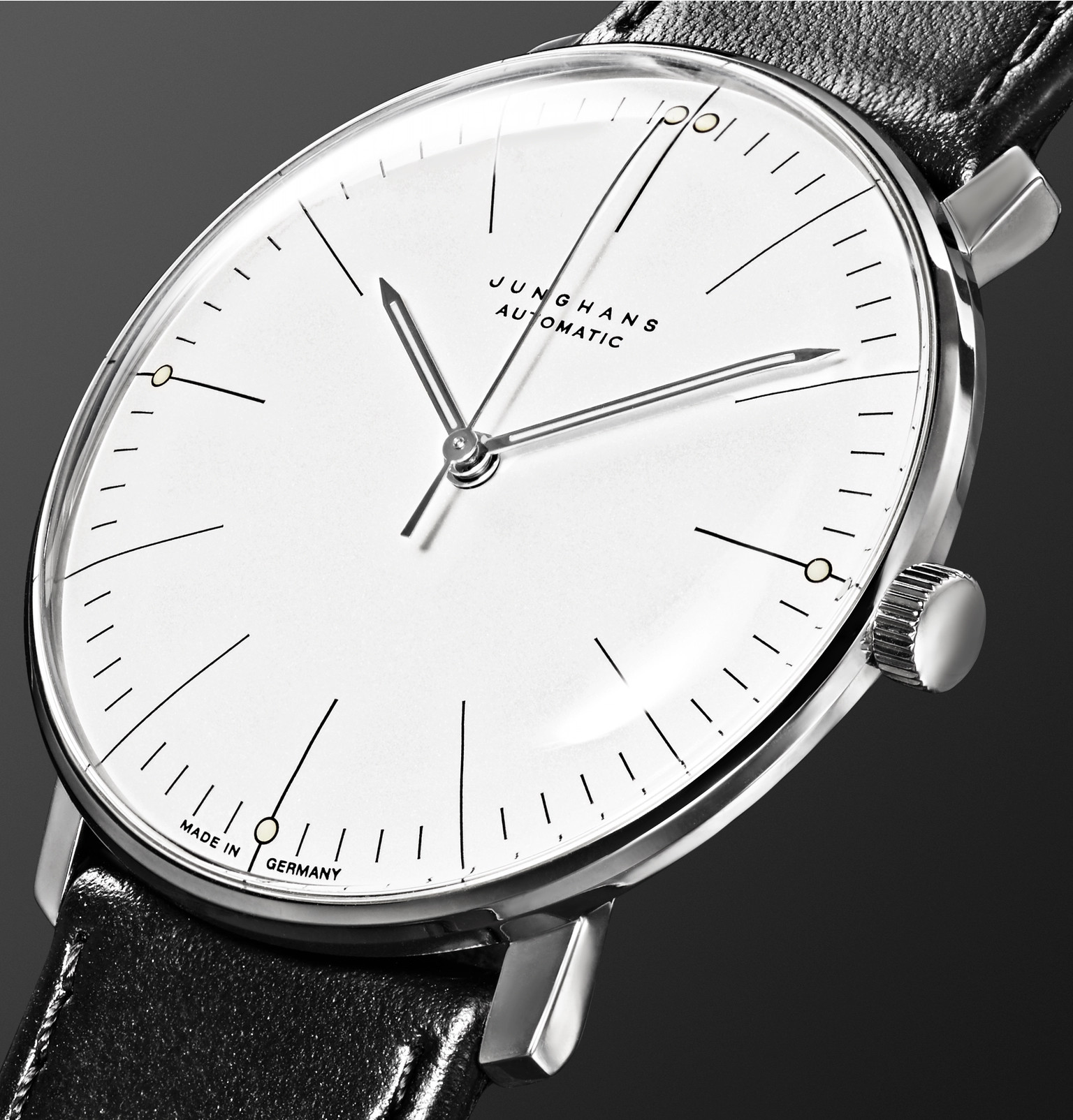 Max Bill Automatic Junghans Max Bill Automatic 38mm Stainless Steel And Leather Watch