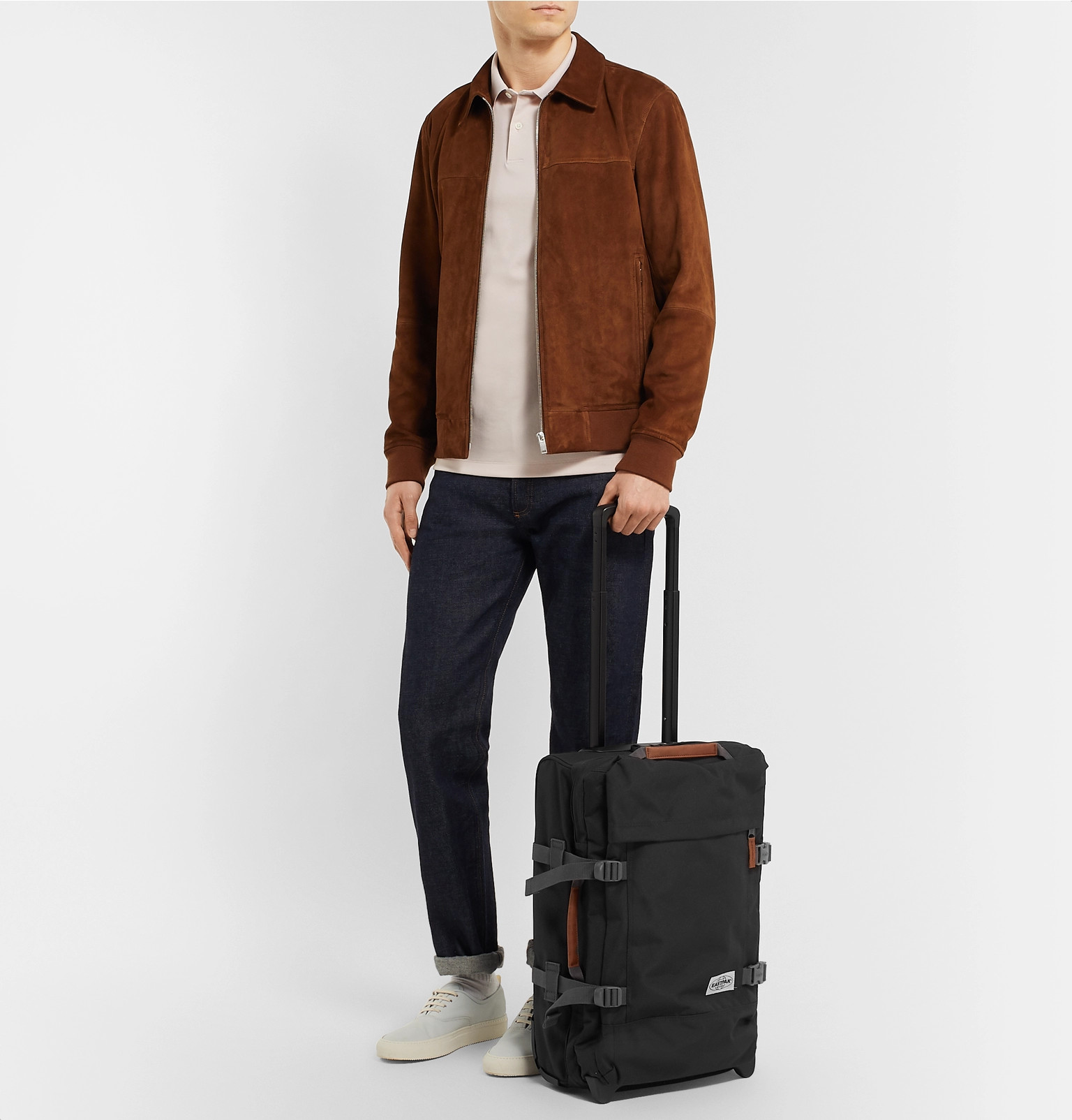 Eastpak Tranverz S Eastpak Tranverz S 51cm Leather Trimmed Canvas Suitcase
