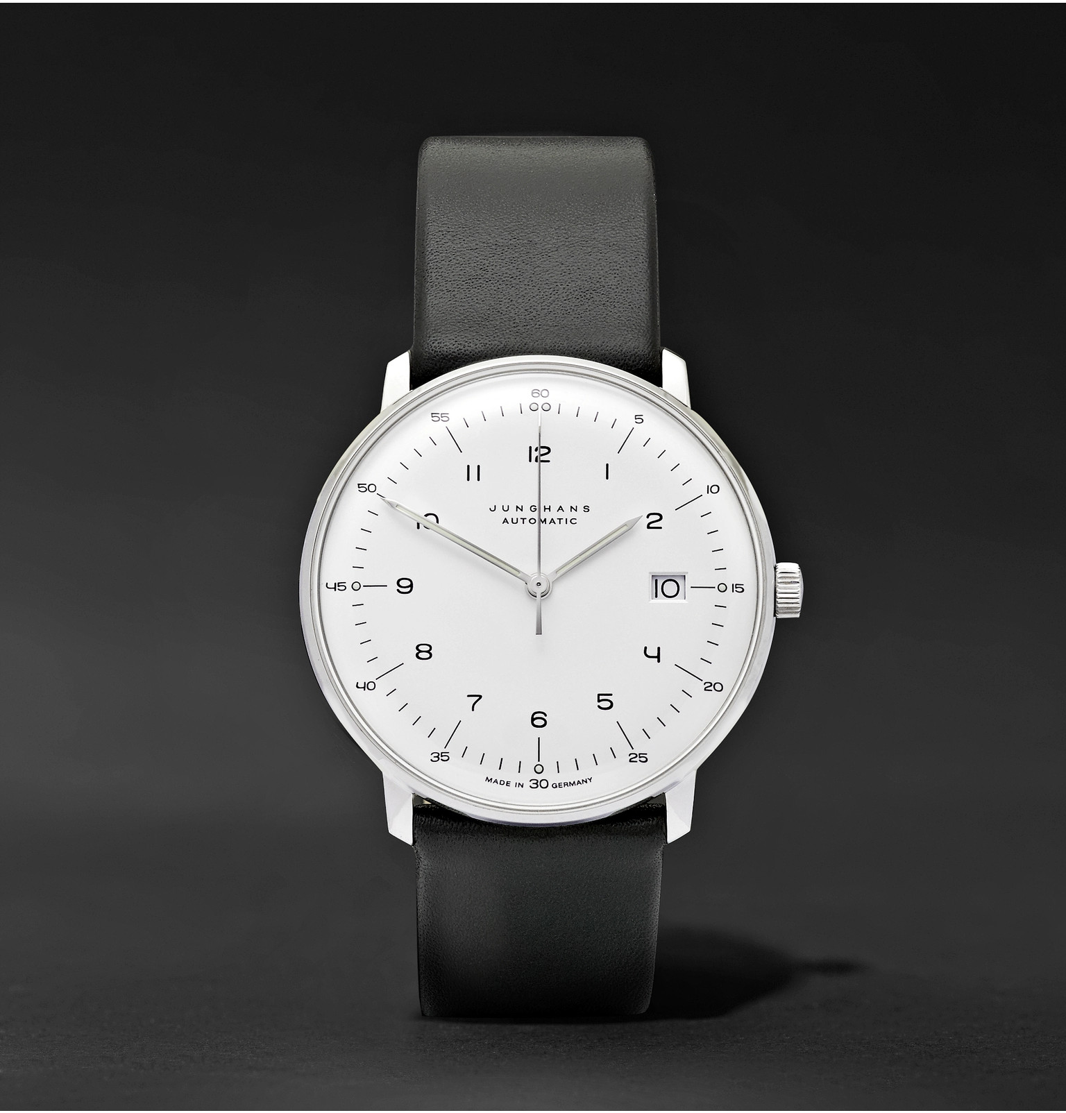 Max Bill Automatic Junghans Max Bill Automatic 40mm Stainless Steel And Leather