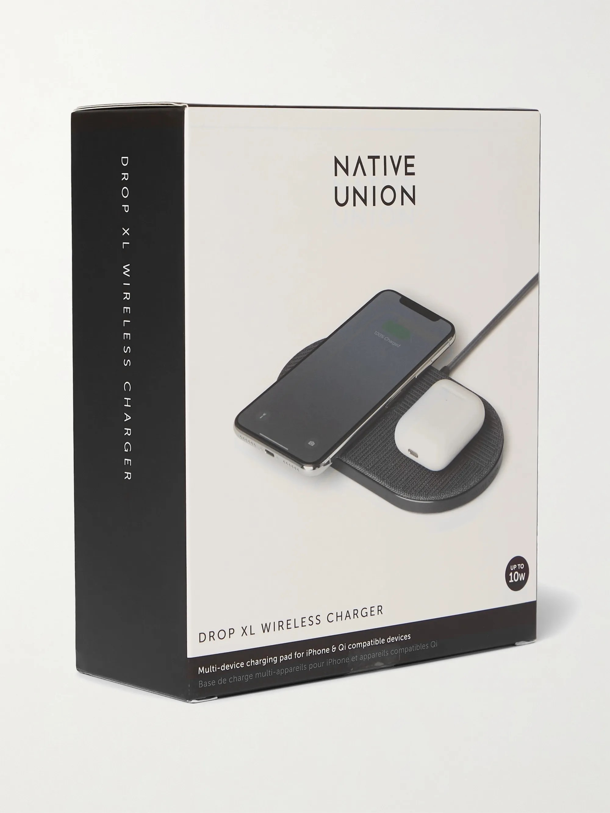 Gray Drop Xl Wireless Charger Native Union Mr Porter - Appareil Compatible Qi