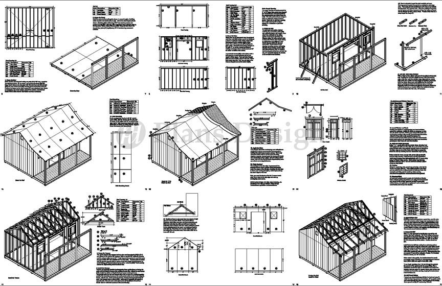 1439 X 1639 Cape Code Storage Shed With Porch Plans P81416