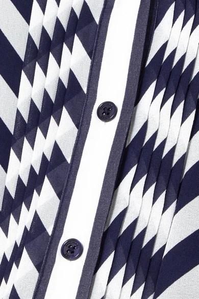 MICHAEL Michael Kors Striped georgette midi dress NET-A-PORTERCOM