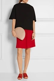 Mansur Gavriel Moon leather clutch