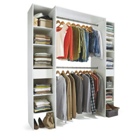 Dressing Extensible Avec Rideau Topiwall - Kit Amenagement Dressing Castorama