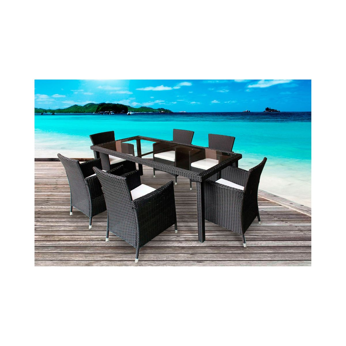 Table Resine Tressee 6 Places Table Resine Tressee 6 Places