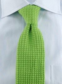 Sea Island Cotton Knit Tie in Lime