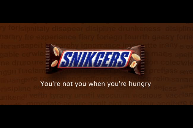 snickers slogan