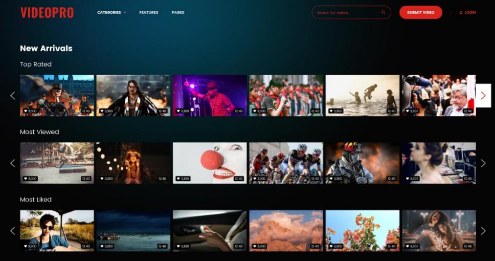 VideoFlix Cool responsive blog, magazine  video WordPress themes