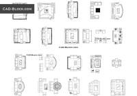 Living room CAD Blocks free download