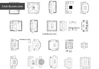 Living room CAD Blocks free download