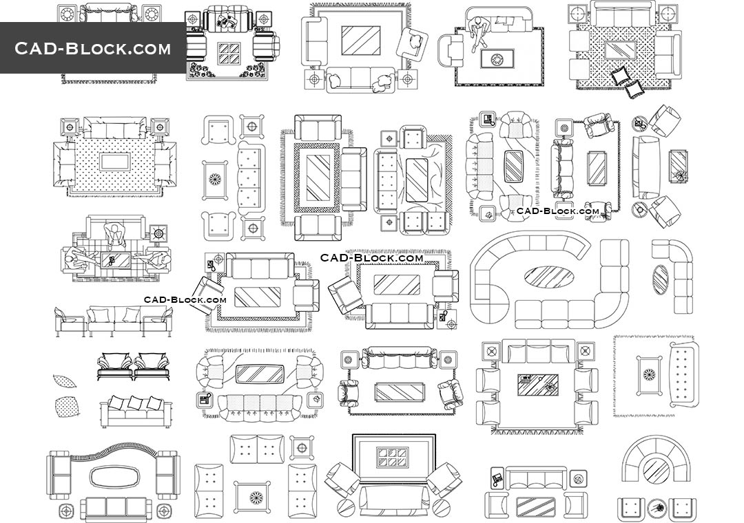 Autocad Blocks Living Room Furniture Cad Blocks Free