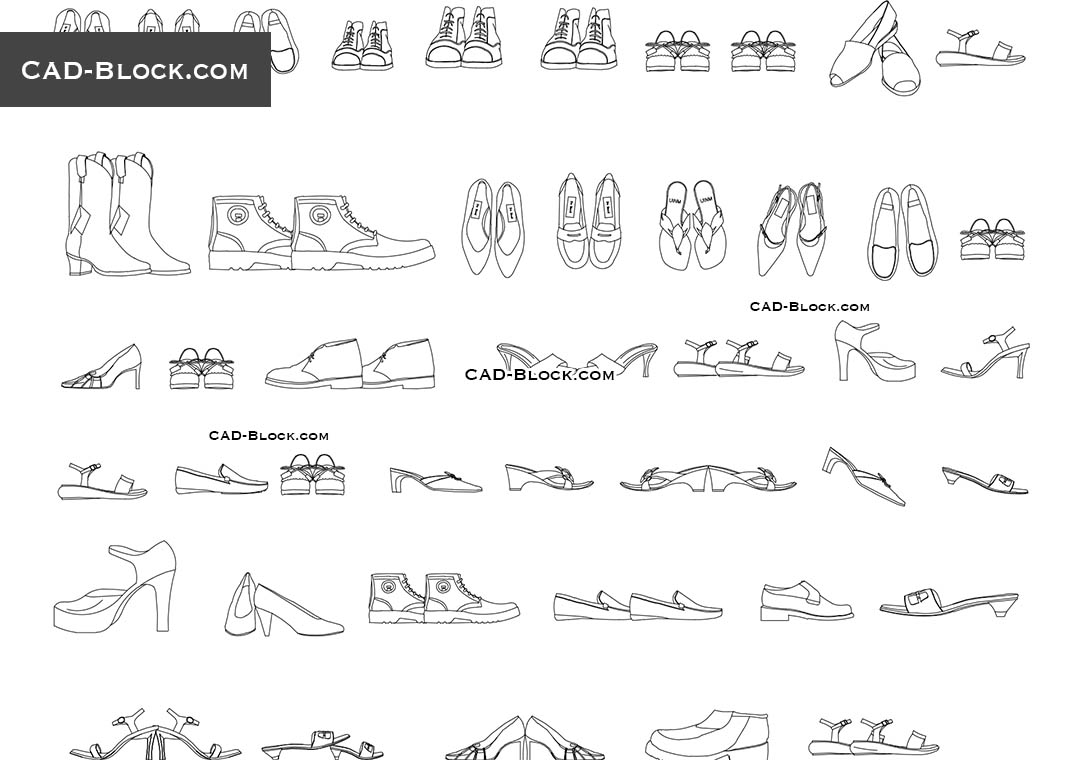 Shoes Cad Block Free Download