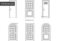 Wooden doors CAD Blocks free download
