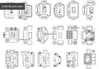 Living room plan CAD Blocks free download, drawings in ...