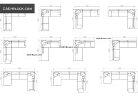 Sofas in plan with dimensions CAD blocks free download ...