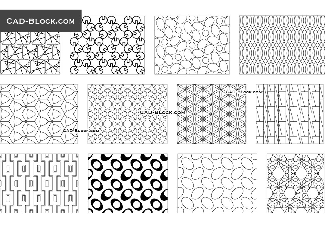 Autocad Blocks Seamless Geometrical Pattern Autocad Blocks Free Download Cad File