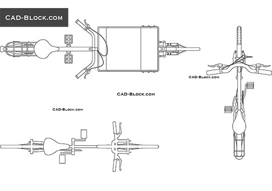 Bicycles CAD blocks free download, AutoCAD drawings