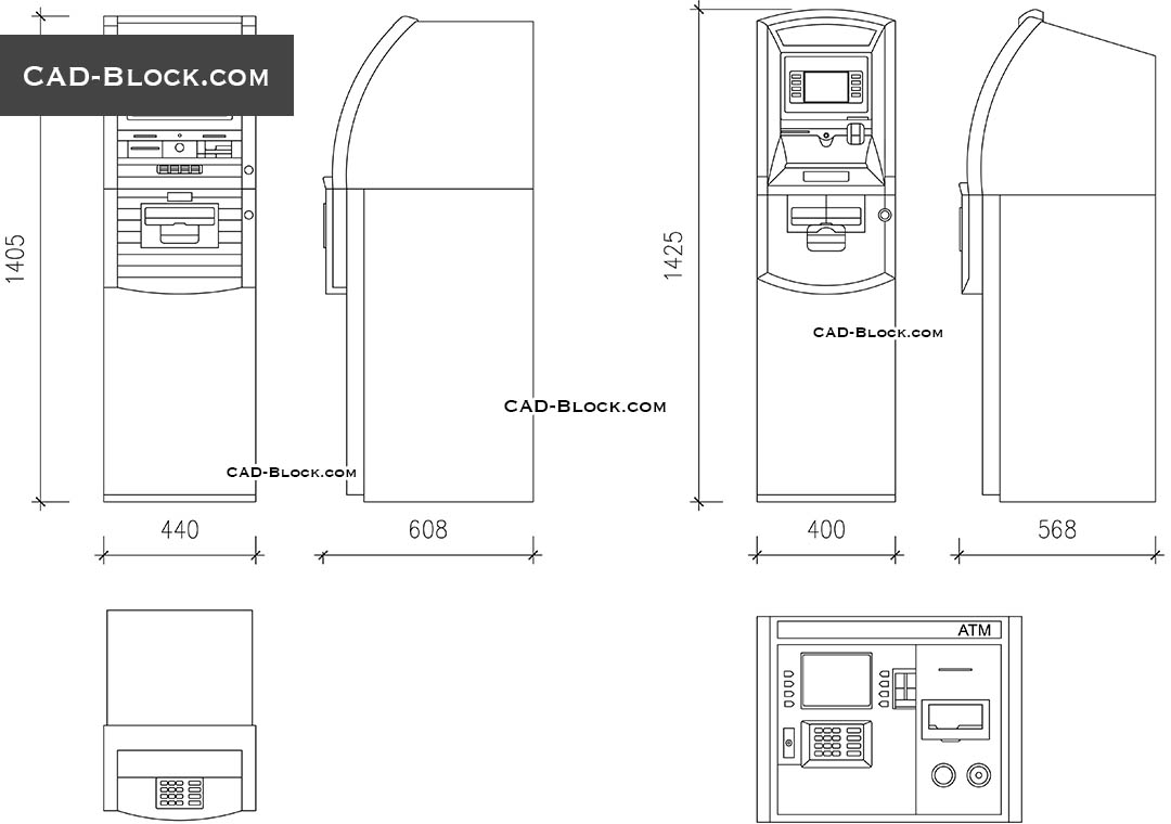 Atm Machine Cad Blocks Dwg File Free Autocad Drawings In