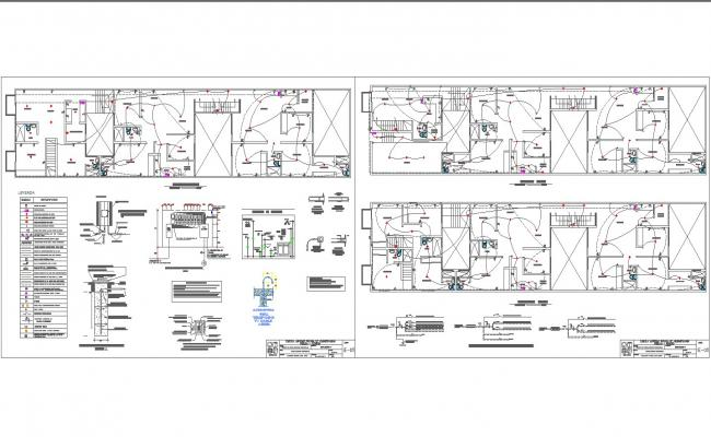 Apartment electrical plan and detail in autocad dwg files