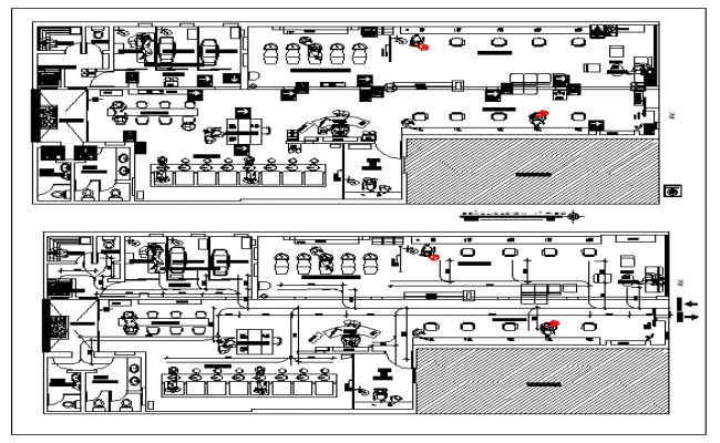 Floor Plan Of A Beauty Salon Dwg File