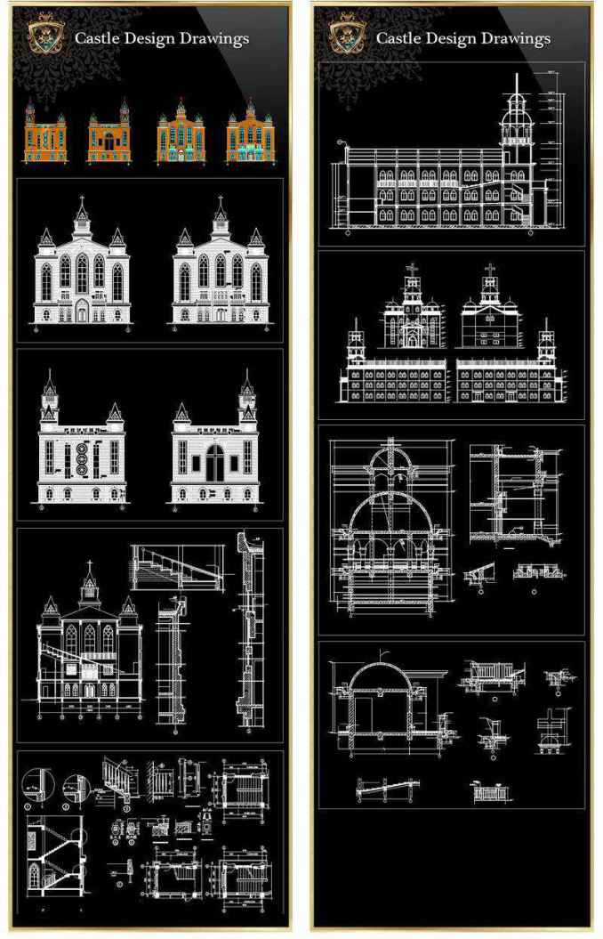 Kitchen Interior Design Autocad Drawings 【architectural Cad Drawings Bundle】(best Collections