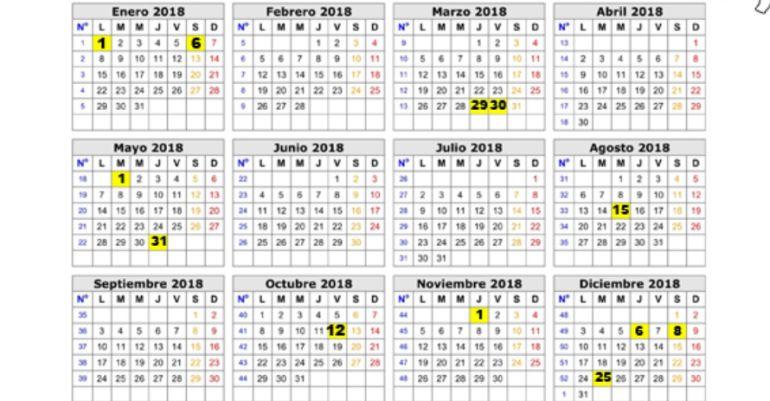 Calendario laboral de Castilla-La Mancha para 2018 SER Toledo