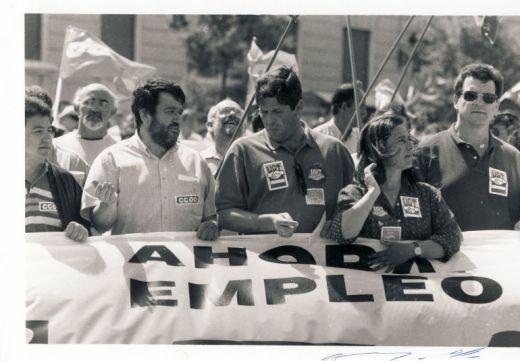 Juan Pérez, con barbas, en una foto de archivo