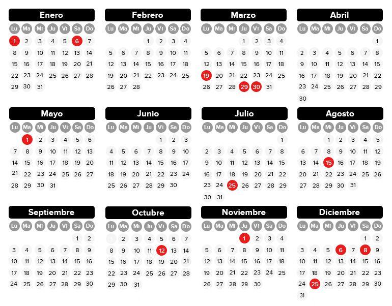 Así será el calendario laboral de 2018 Economía Cadena SER