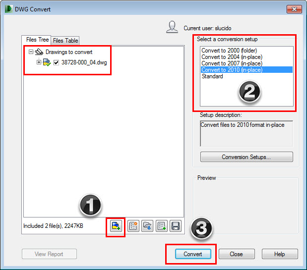 Using DWG Trueview to Convert the AutoCAD File Format CADproTips