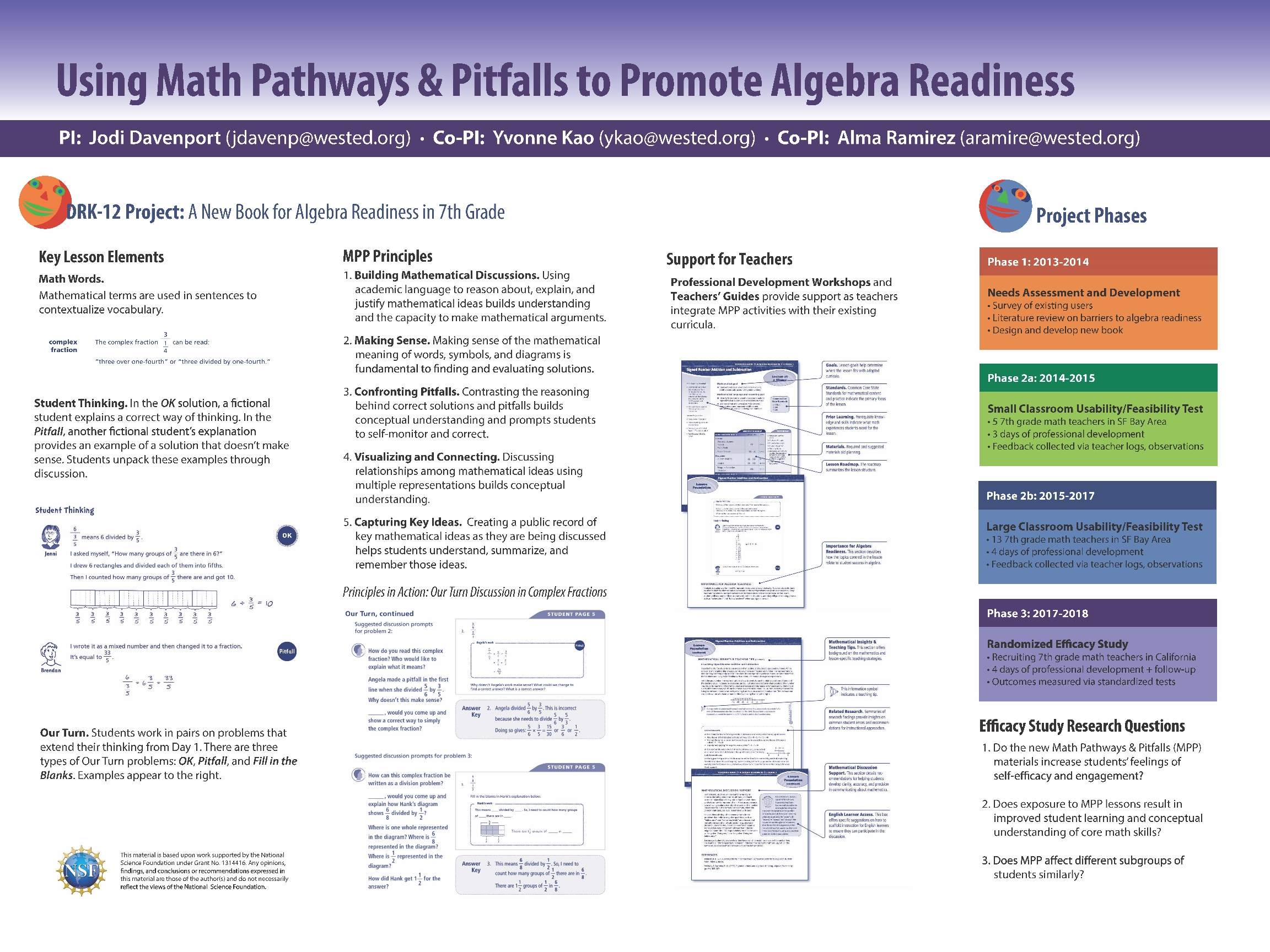 Cadre Photo Multiple Aera 2017 Poster Using Math Pathways And Pitfalls To Promote