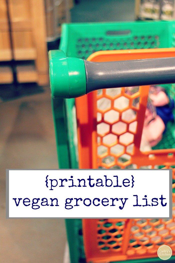 Vegan grocery list - Cadry\u0027s Kitchen