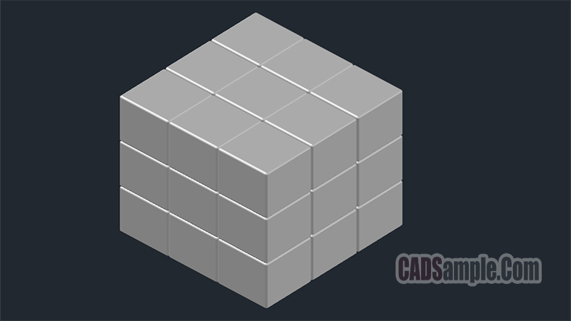 Sofas Cad 2d Rubiks Cube 3d Drawing » Cadsample.com