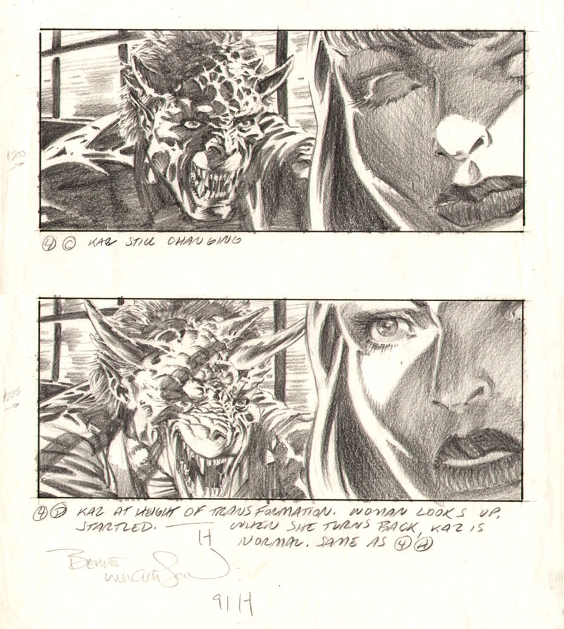 Bernie Wrightson My Demon Lover storyboard, in Dave Morris\u0027s Misc