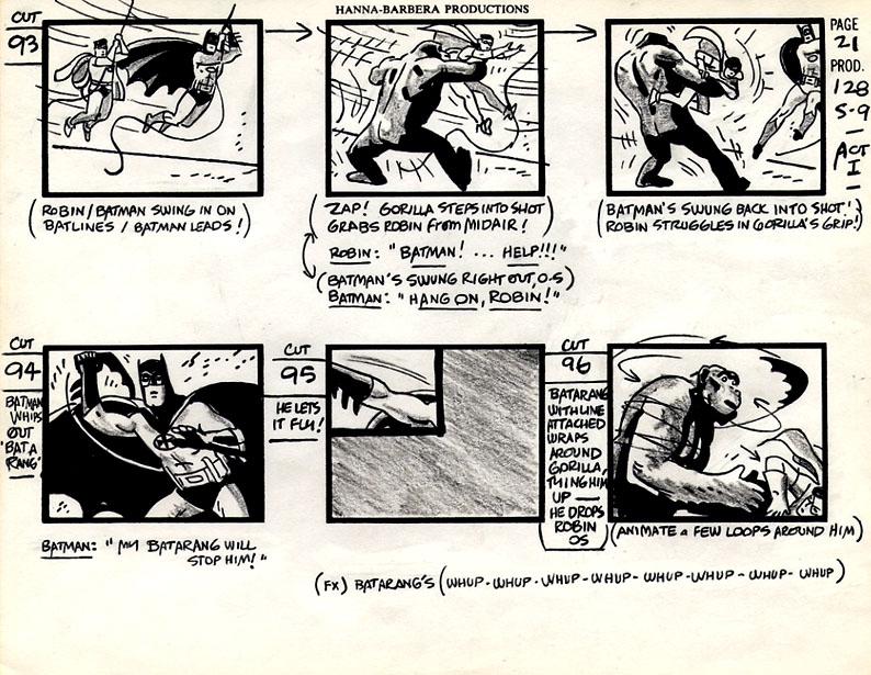 Alex Toth Batman and Robin storyboard, in Lambo S\u0027s Alex Toth Comic