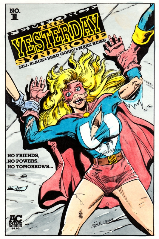 Femforce #101 Unused Cover Color Art - Ms Victory, in Keith