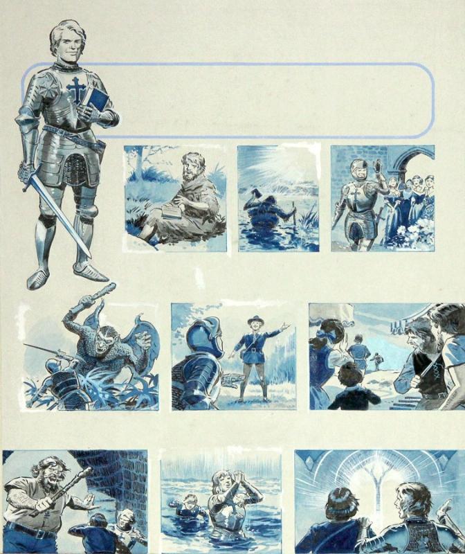 Storyboard of a knight - english magazine illustration?, in Yoann B