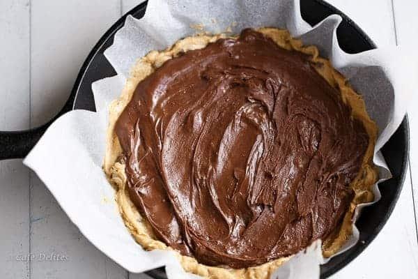 Nutella Stuffed Deep Dish Skillet Cookie | http://cafedelites.com