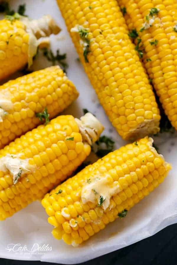 Corn On The Cob With Garlic Butter