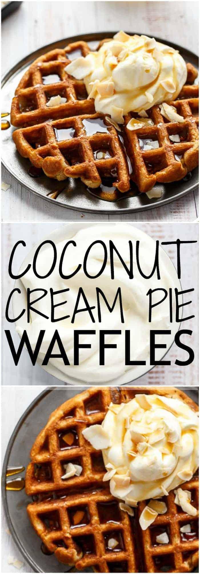 Coconut Cream Pie Waffles - Cafe Delites