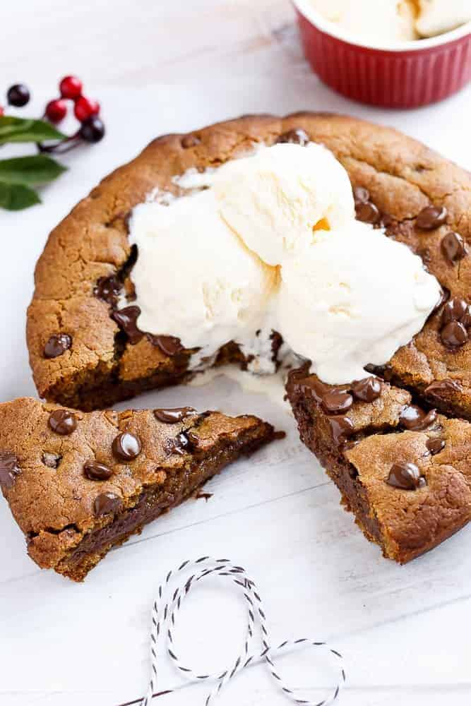 ... to merge my Nutella Stuffed Skillet Cookie with Gingerbread…and BAM
