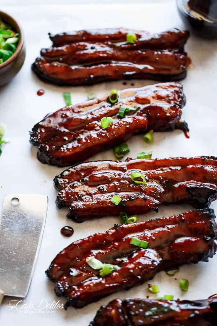 ... Chinese Barbecue Pork Belly Ribs (Char Siu) | http://cafedelites.com