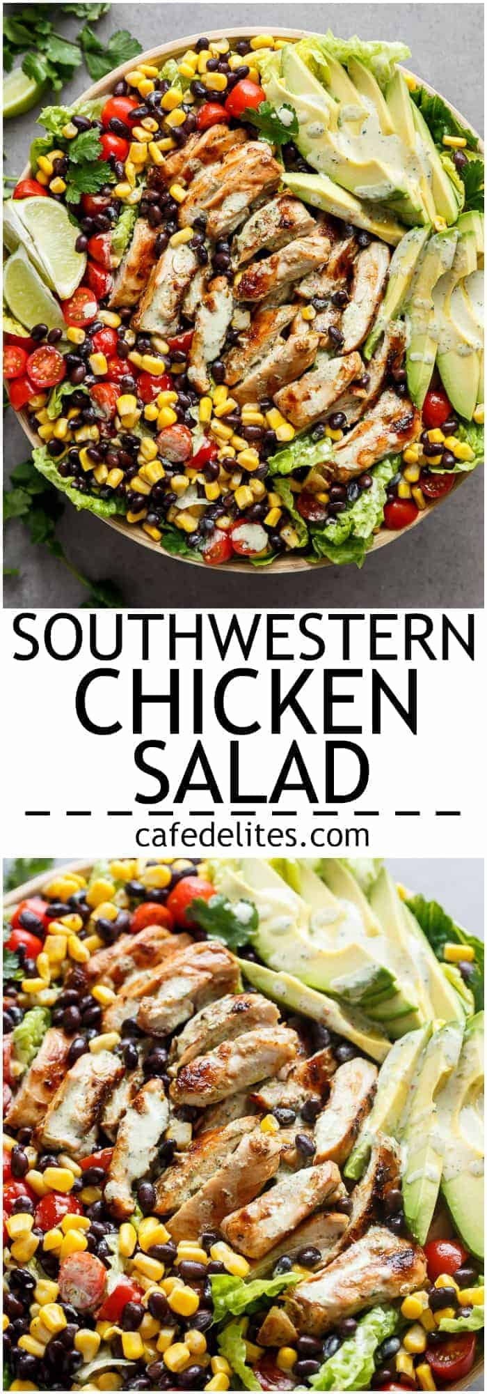 Southwestern Salad with this Chili Lime Southwestern Chicken Salad ...