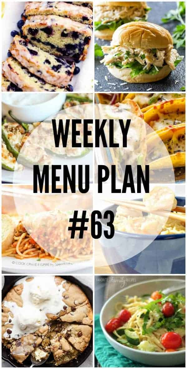 WEEKLY MENU PLAN #63