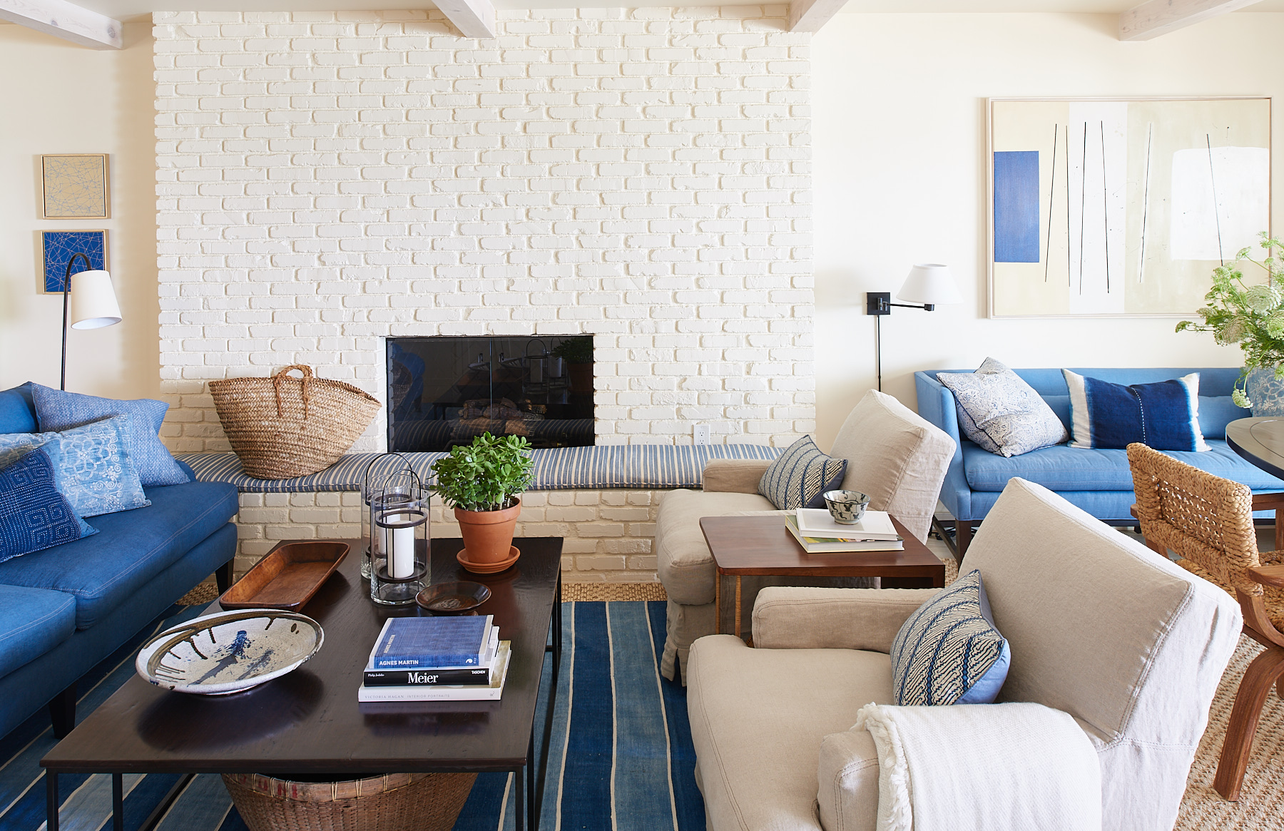 A Blue And White Malibu Beach House