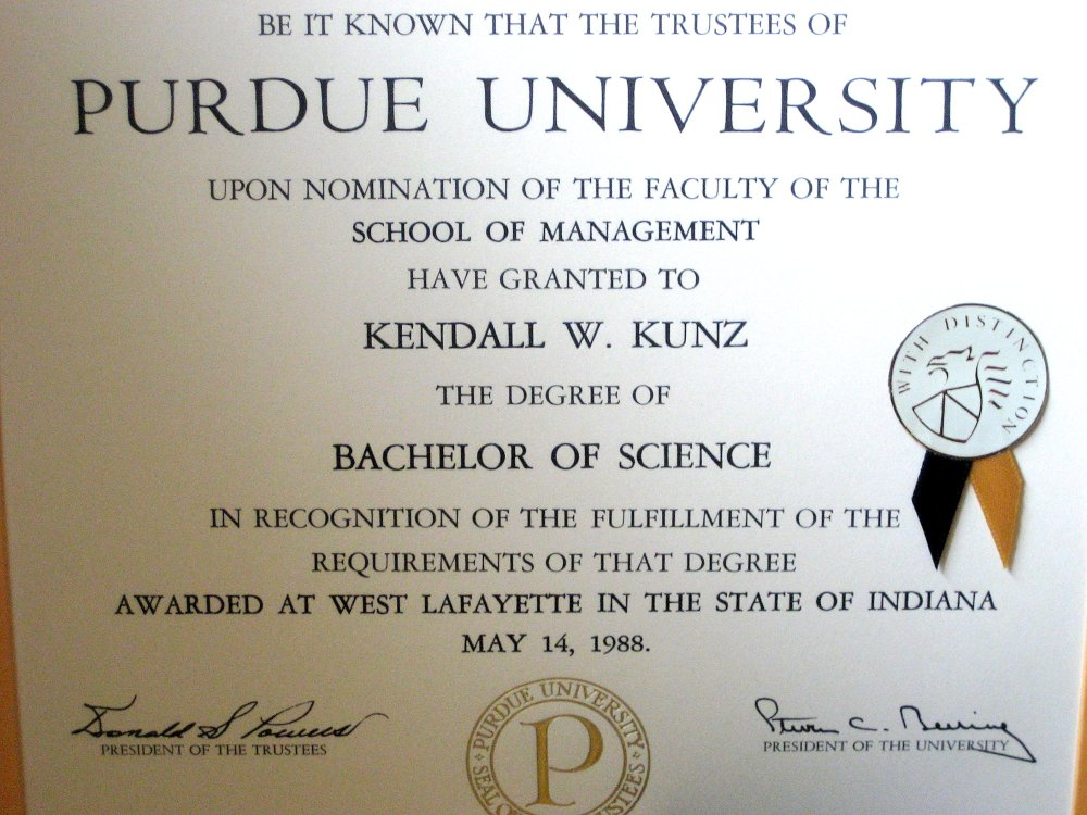Purdue Graduation, 20 Years Ago