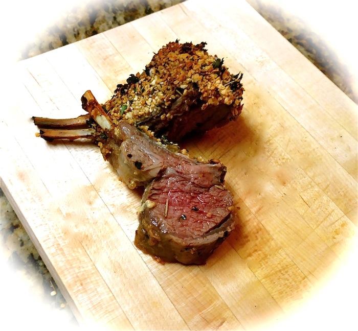 Garlic Herb Crusted Rack of Lamb