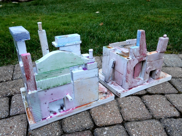 miniature houses painted
