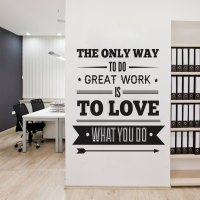 Office Decor Typography Inspirational Quote Wall