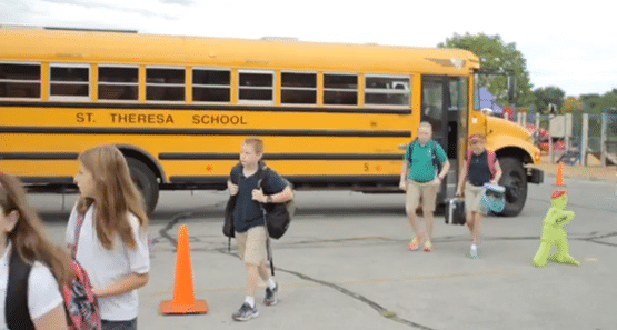 School Choice: Kids going to St. Theresa Catholic School.