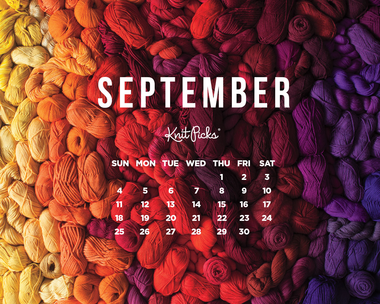 Pretty Wallpapers For Fall September 2016 Calendar Knitpicks Staff Knitting Blog